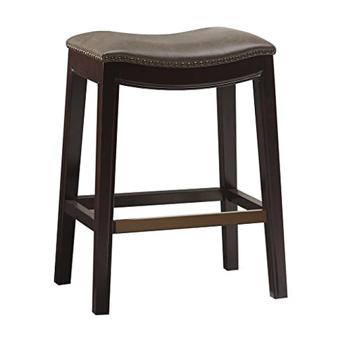 Saddle Counter Stool1 Stool:20W x 14.37D x 27HSeat:20W x 14D x 27HMushroomFUR101-0038
