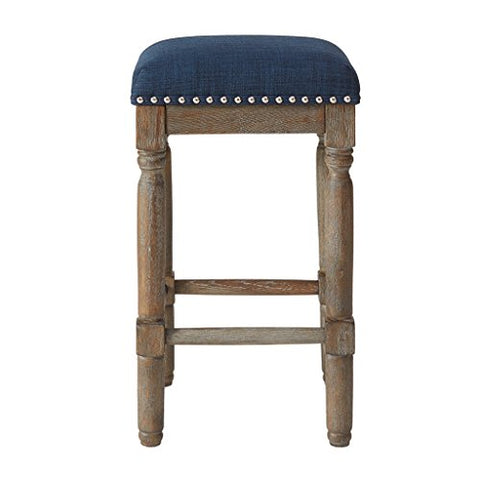 "Stool (Set of 2)2 Bar Stools:14""W x 14""D x 26""H (2) Distance Between Legs (Front to Front):9.9"" Distance Between Legs (Front to Back):9.9"" Distance Between Legs (Back to Back):9.9"" Seat Width:14.25"" Seat Depth:14.25"" Floor to Seat Height:26""NavyMP104-0037"