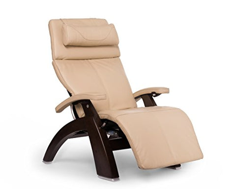 Perfect Chair PC-610 Omni-Motion Classic Premium Full Grain Leather Zero-Gravity Hand-Crafted Dark Walnut Recliner` Ivory