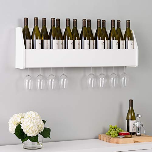 Floating Wine Rack, White