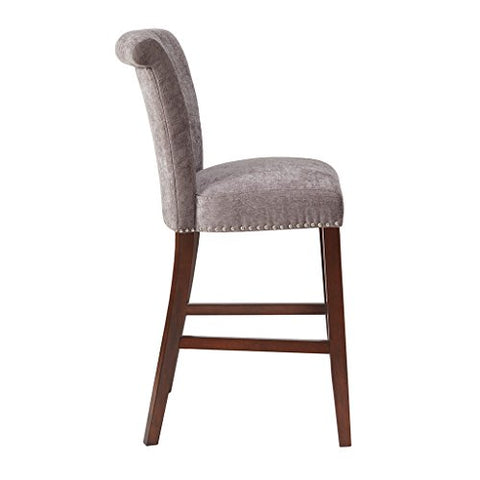30-Inch Bar Stool1 Bar Stool:21.25W x 26.75D x 43.75HSeat:19W x 17.5D x 30HDistance Between Legs (Front to Front):15.25Distance Between Legs (Front to Back):19.5Distance Between Legs (Back to Back):15.5GreyMP104-0061