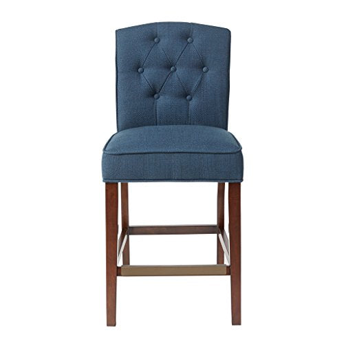 "Tufted Counter Stool1 Chair:19.5""W x 24.25""D x 40""H Seat:19.5""W x 17.25""D x 26""H Distance Between Legs (Front to Front):16"" Distance Between Legs (Front to Back):19"" Distance Between Legs (Back to Back):14""NavyMP104-0055"