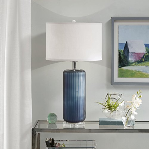 Table Lamp1 Table Lamp:15D x 15W x 27HShade Size:15D x 15W x 10HCord Length:72Base Dimensions:6D x 6W x 0.75HBlueMP153-0131