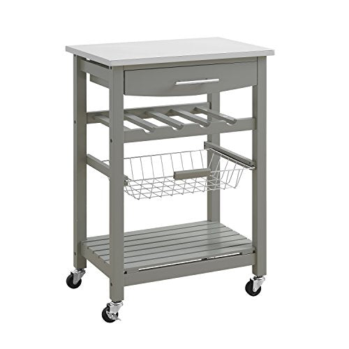 Clarke Gray Kitchen Cart