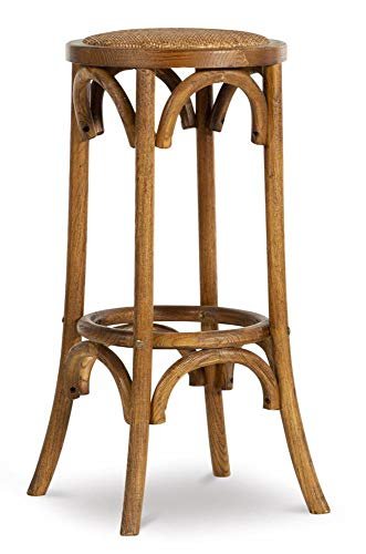 Rae Walnut Backless Bar Stool