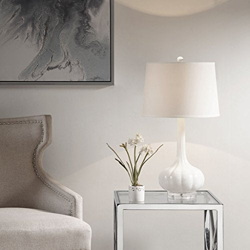 Table Lamp1 Table Lamp:15L x 15W x 27.5HBase:9.25W x 9.25D x 20HShade:15D x 15W x 8HCord Length:72WhiteMP153-0165