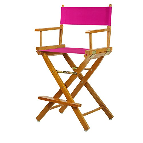 "24"" Director's Chair Honey Oak Frame-Magenta Canvas"