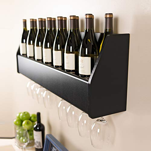 Floating Wine Rack, Black