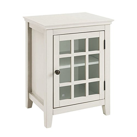 Largo Antique White Single Door Cabinet