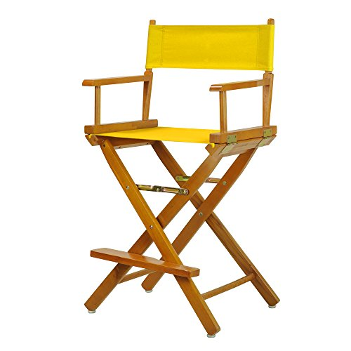 "24"" Director's Chair Honey Oak Frame-Gold Canvas"