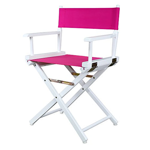 18 Directors Chair White Frame-Magenta Canvas