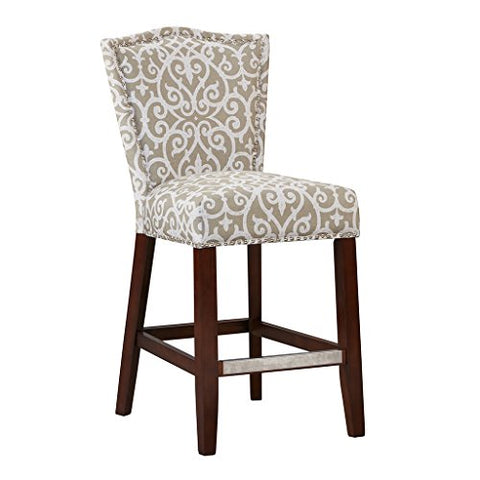 "Counter Stool1 Counter Stool:21""W x 23.5""D x 40.75""H Seat:18.5""W x 17""D x 26""H Weight Capacity:250lbsTaupeFPF20-0398"