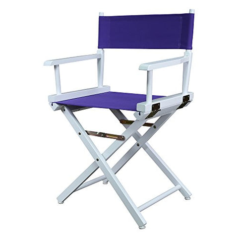 18 Directors Chair White Frame-Purple Canvas