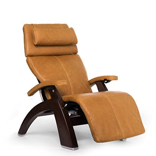 Perfect Chair PC-610 Premium Leather Zero-Gravity Hand-Crafted Therapeutic Dark Walnut Power Recliner