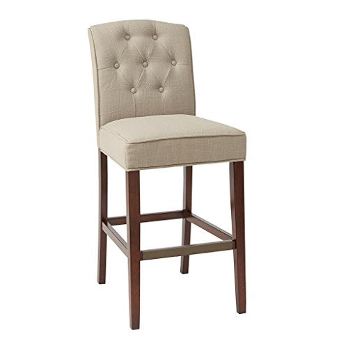 Tufted 30-Inch Bar Stool1 Bar Stool:19.5W x 24.75D x 44HSeat:19.5W x 17.25D x 30HDistance Between Legs (Front to Front):16.5Distance Between Legs (Front to Back):18.75Distance Between Legs (Back to Back):13.75TanMP104-0057