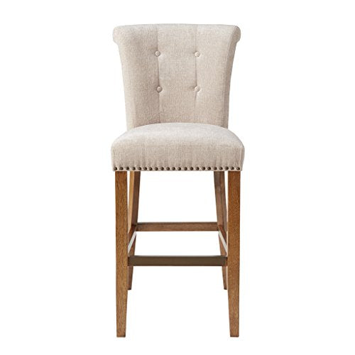 "30-Inch Bar Stool1 Bar Stool:21.25""W x 26.75""D x 43.75""H Seat:19""W x 17.5""D x 30""H Distance Between Legs (Front to Front):15.25"" Distance Between Legs (Front to Back):19.5"" Distance Between Legs (Back to Back):15.5""CreamMP104-0062"