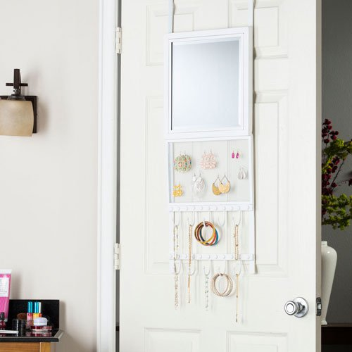 Karlee Over-the-Door Jewelry Storage w/ Mirror