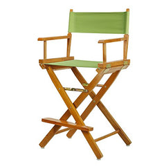 "24"" Director's Chair Honey Oak Frame-Lime Green Canvas"