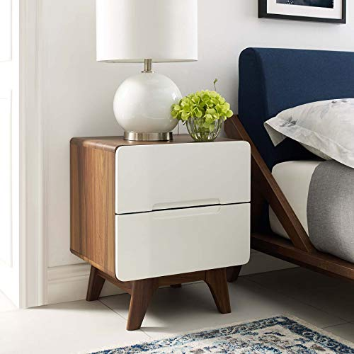 Origin Wood Nightstand or End Table - Walnut White