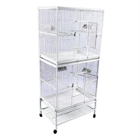 32x21 Double Stack Flight Cage