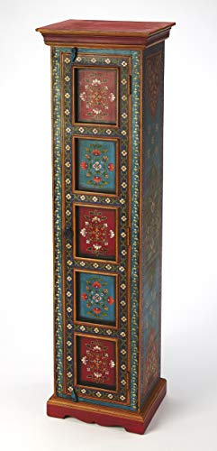 BUTLER AMIR HAND PAINTED TALL CABINET