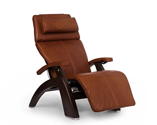 Human Touch Perfect Chair PC-610 Premium Leather Zero-Gravity Hand-Crafted Therapeutic Dark Walnut Power Recliner