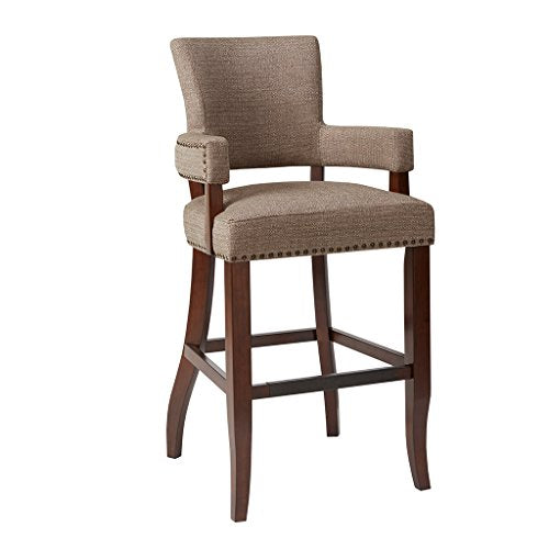 Arm 30 Bar Stool1 Bar Stool:22.5W x 24.5D x 44.25HSeat:17.75W x 17.75D x 30HArms:17.75W x 35.75HDistance Between Legs (Front to Front):19Distance Between Legs (Front to Back):17.5Distance Between Legs (Back to Back):16.75BrownMP104-0047