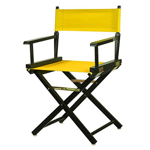 18 Directors Chair Black Frame-Gold Canvas