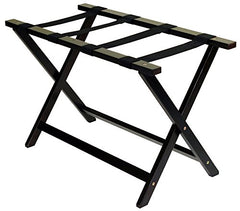 "Heavy Duty 30"" Extra Wide Luggage Rack-Espresso"