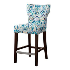 "Tufted Back Counter Stool1 Counter Stool:17.75""W x 21.125""D x 38.25""H Seat:17.51""W x 15.75""D x 25""H Weight Capacity:250lbsBlueFPF20-0402"