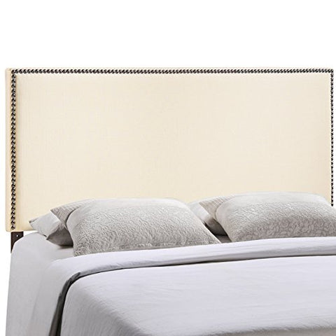 Region Full Nailhead Upholstered Headboard - Ivory