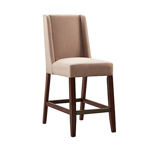 "Wing Counter Stool1 Counter Stool:19""W x 24.75""D x 41.5""H Weight Capacity:250lbs Seat Dimensions:18""W x 18.5""D x 25.75""HTaupeFPF20-0397"