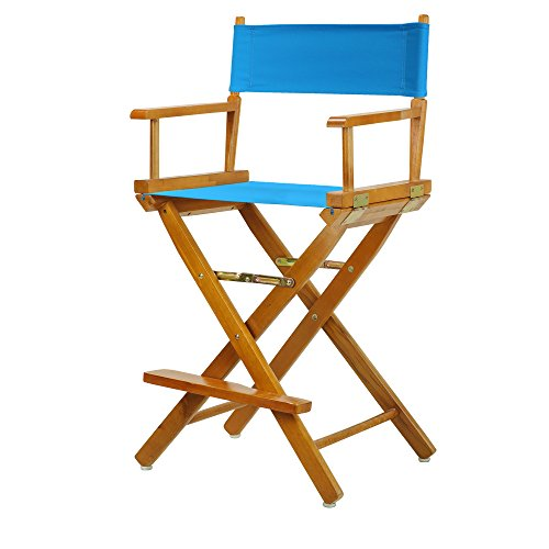 "24"" Director's Chair Honey Oak Frame-Turquoise Canvas"