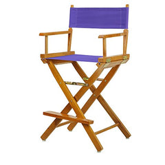 "24"" Director's Chair Honey Oak Frame-Purple Canvas"
