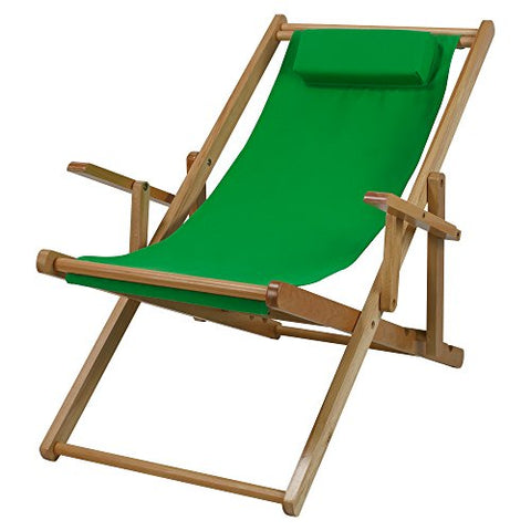 Sling Chair Natural Frame-Green Canvas