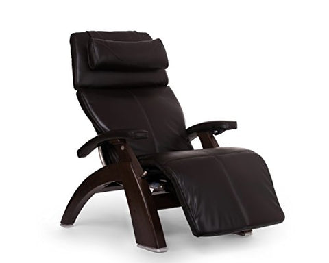 Perfect Chair PC-610 Premium Leather Zero-Gravity Hand-Crafted Therapeutic Dark Walnut Power Recl