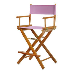 "24"" Director's Chair Honey Oak Frame-Pink Canvas"