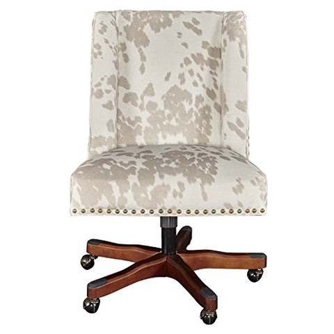 Draper Linen Cow Print Office Chair