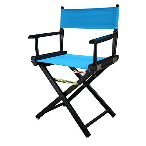 18 Directors Chair Black Frame-Turquoise Canvas