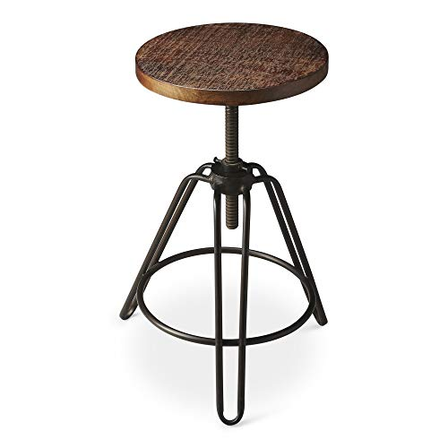 BUTLER TRENTON METAL & WOOD REVOLVING BAR STOOL