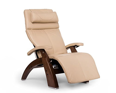 Perfect Chair PC-610 Premium Leather Zero-Gravity Hand-Crafted Therapeutic Walnut Power Recliner