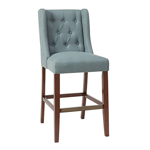"30'' Bar Stool1 Bar Stool:20.5""W x 25""D x 45.5""H Seat:20.5""W x 17.5""D x 30""H Distance Between Legs (Front to Front):17"" Distance Between Legs (Front to Back):20.5"" Distance Between Legs (Back to Back):15.75""BlueMP104-0050"