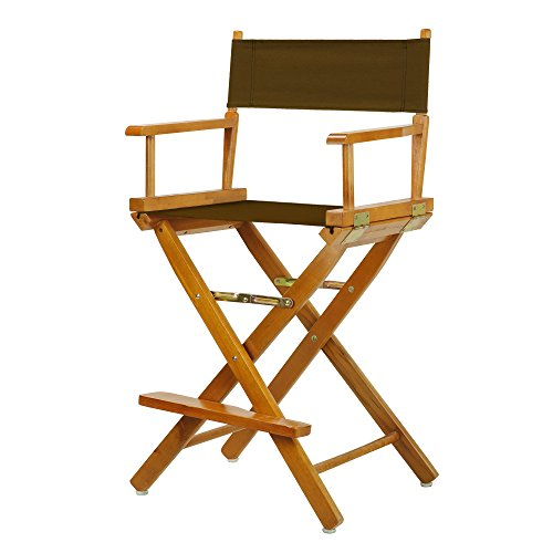 "24"" Director's Chair Honey Oak Frame-Brown Canvas"