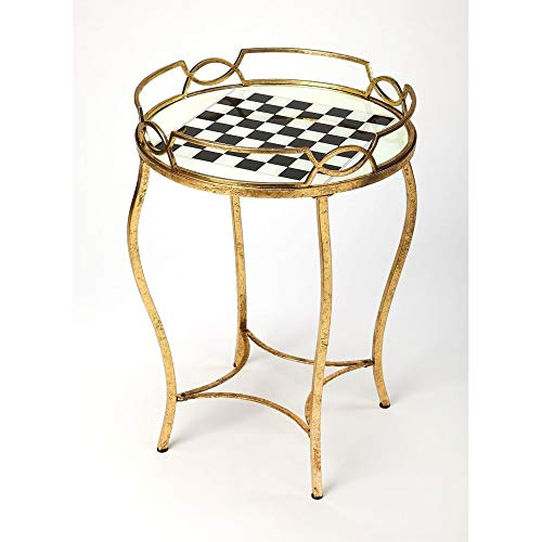 BUTLER JUDITH ANTIQUE GOLD GAME TABLE