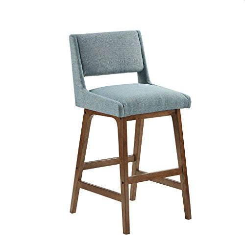 Barstool1 Barstool:19.25W x 21.5D x 42.25HSeat dimension:19.25W x 16D x 31HLeg size:21.75D x 26.5H x 1TDistance between legs(Front to Back):11.25Distance between legs(Side to Side):14.75Back rest:17 W x 11.25HBlueIIF20-0042