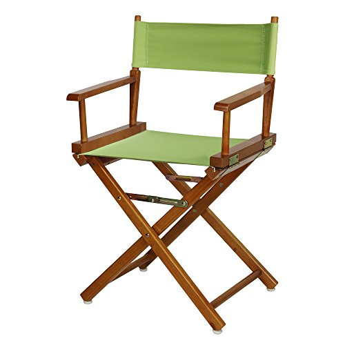 "18"" Director's Chair Honey Oak Frame-Lime Green Canvas"