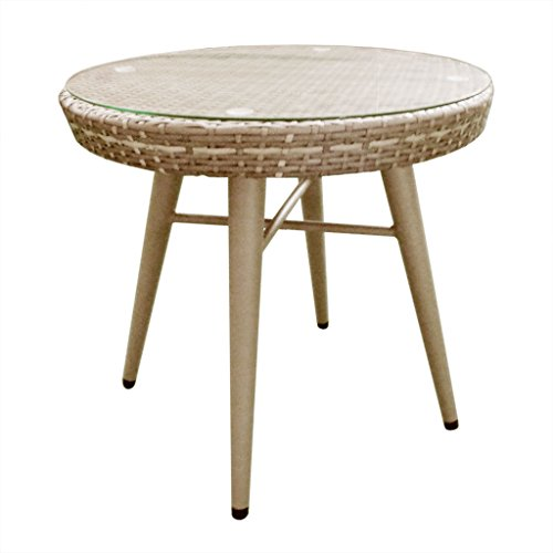 Outdoor End Table1 Outdoor End Table:Dia. 23.6D x 17HTable Top:Dia.23.6 x 3.15TLeg Size(Top):Dia.1.97Leg Size(Bottom):Dia.0.9Leg Height:18.11Distance Between Legs:13.8Maximum Weight Capacity:85 LbsLight GreyII146-0143