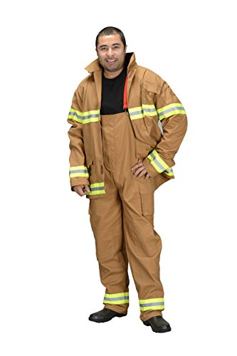 Adult Firefighter Suit, size Adult Small (Tan)  (Choice of Helmet Sold Separately)