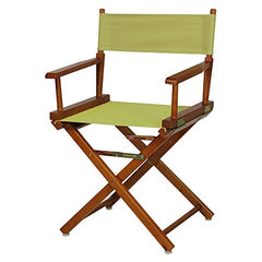 "18"" Director's Chair Honey Oak Frame-Sage Canvas"