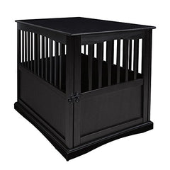 Pet Crate End Table-Black
